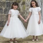 Mikado and Tulle Dress with Bow