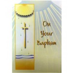 B2A - Baptism Card: You are welcome to visit Clothes Line shop SW London SW20 9NQ