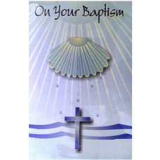B3A - Baptism Card: You are welcome to visit Clothes Line shop SW London SW20 9NQ