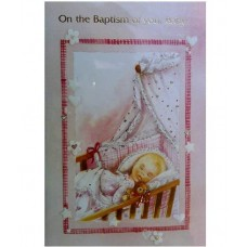 B4A - Baptism Card: You are welcome to visit Clothes Line shop SW London SW20 9NQ