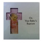 B5A - Baptism Card: You are welcome to visit Clothes Line shop SW London SW20 9NQ