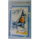 B6A - Baptism Card: You are welcome to visit Clothes Line shop SW London SW20 9NQ