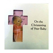 C8A - Christening Card: You are welcome to visit Clothes Line shop SW London SW20 9NQ