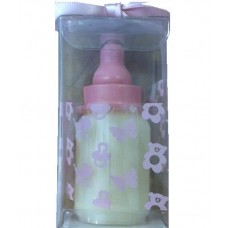 CH505 - Pink Candle In The Shape Of A Baby's Bottle: You are welcome to visit Clothes Line shop SW London SW20 9NQ