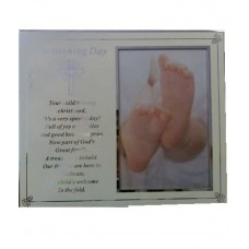 CH507 - Christening Day Photo Frame: You are welcome to visit Clothes Line shop SW London SW20 9NQ