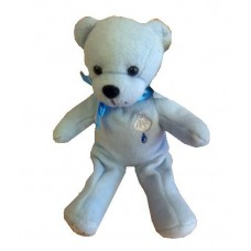 CH524 - Blue Christening Teddy Bear: Ideal for Baptism/Christening. You are welcome to visit Clothes Line shop SW London SW20 9NQ for Christening Cards, Gifts, Shawls and Party items
