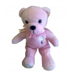 CH525 - Pink Christening Teddy Bear: Ideal for Baptism/Christening. You are welcome to visit Clothes Line shop SW London SW20 9NQ for Christening Cards, Gifts, Shawls and Party items