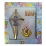 CH530 - Christening Gift Set: Ideal for Baptism/Christening. You are welcome to visit Clothes Line shop SW London SW20 9NQ for Christening Cards, Gifts, Shawls and Party items