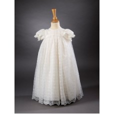 CH357 - A Long Gown Made From Nottingham Lace: You are welcome to visit Clothes Line shop SW London SW20 9NQ
