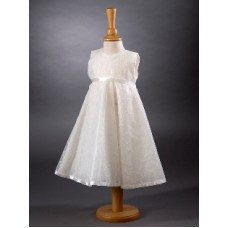 CH378 - A Simple A-line Dress: Ideal for Baptism/Christening. You are welcome to visit Clothes Line shop SW London SW20 9NQ for Christening Cards, Gifts, Shawls and Party items
