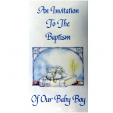 CH562 - Baptism Invitation: You are welcome to visit Clothes Line shop SW London SW20 9NQ