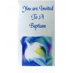 CH563 - Baptism Invitation: You are welcome to visit Clothes Line shop SW London SW20 9NQ