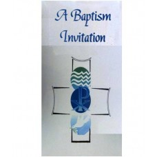 CH564 - Baptism Invitation: You are welcome to visit Clothes Line shop SW London SW20 9NQ
