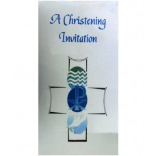 CH567 - Christening Invitation: You are welcome to visit Clothes Line shop SW London SW20 9NQ
