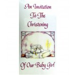 CH568 - Christening Invitation: You are welcome to visit Clothes Line shop SW London SW20 9NQ