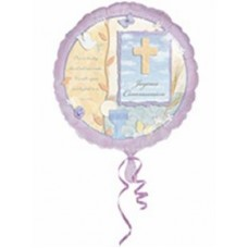 G262 - Christening Helium Foil Balloon - Deflated: You are welcome to visit Clothes Line shop SW London SW20 9NQ