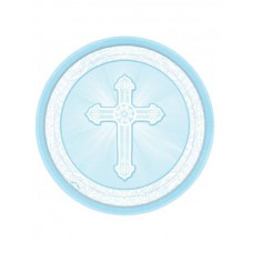 G313 - 8 - 9' inch Blue Christening Paper Plates: You are welcome to visit Clothes Line shop SW London SW20 9NQ