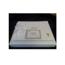 G351 - Personalised Guest Book for Boy or Girl : : Ideal Momento to keep memories of the day: Ideal for Baptism/Christening. You are welcome to visit Clothes Line shop SW London SW20 9NQ for Christening Cards, Gifts, Shawls and Party items