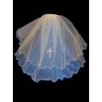 A 20 inch Layered Veil in White For First Holy Communion