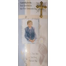 Boxed Communion Card Grandson