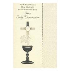 Communion Card Godchild