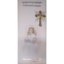 Boxed Communion Card Granddaughter