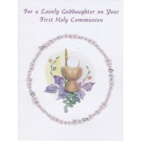 Communion Card Goddaughter