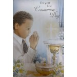 Boy Holy Communion Card