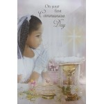 Boy First Holy Communion Card