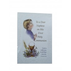 Communion Card Nephew