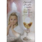 Daughter Communion Card: with lovely verse