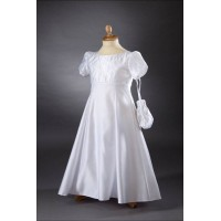 Satin Empire Line Communion Dress/Gown