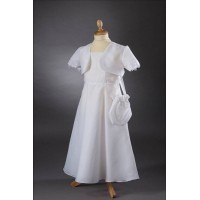 A-Line Gown With Chiffon Communion Dress