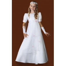 Puffed Sleeved Full Length Round Neck Holy Communion Dress