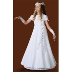 A Line Full Length Round Neck Holy Communion Dress