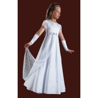 Short Sleeved Full Length Round Neck Holy Communion Dress