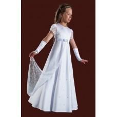 Short Sleeved Full Length Round Neck Holy Communion Dress