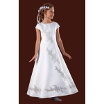Beautiful Design on the front and back of Full Holy Communion Dress
