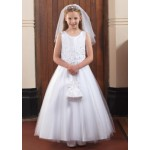Communion Dress with Satin top