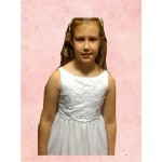 Sleeveless Round Neck flarred Organza  Holy Communion Dress