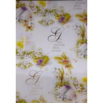 Wrapping Paper with Tag: ideal for Christenings, First Holy Communion Confirmation and other occassions: Approx. Size: 99 x 69 cms