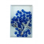 Dark Blue Rosary with silver links