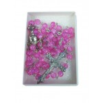 Pink Rosary with silver links