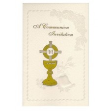 12 Symbolic First Holy Communion Invitations with Envelopes