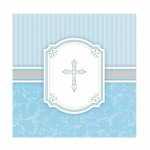 Blessing Blue Luncheon Napkins 33cm: 16 in a Pack