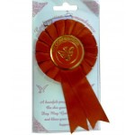 CON852 - Confirmation Red Rosette: You are welcome to visit Clothes Line shop in West Wimbledon London SW20 9NQ