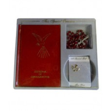 CON869 - Confirmation Gift Set with Missal in Red: You are welcome to visit Clothes Line shop in West Wimbledon London SW20 9NQ where we have a variety of cards, gifts banners as well as party items