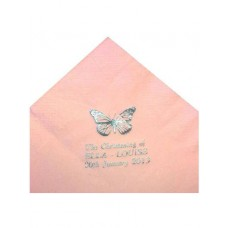 G369 - Pack of 50 Pink Personalised Confirmation Serviettes: You are welcome to visit Clothes Line shop in SW London SW20 9NQ