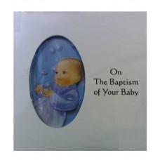 B7A - Baptism Card: You are welcome to visit Clothes Line shop SW London SW20 9NQ