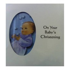 C3A - Christening Card: You are welcome to visit Clothes Line shop SW London SW20 9NQ